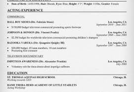 Child Actor Sample Resume Child Acting Resume Template Resume