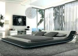 modern platform bed with led lights fine furniture king i29