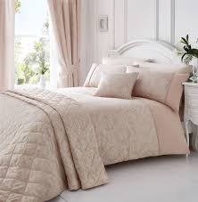 details about woven damask piped pink white super king duvet cover
