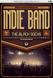 Band Flyer Template Indie Band Flyer Template V24 by lou24 GraphicRiver 1