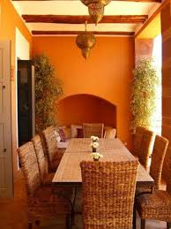 Orange Bedroom Furniture Classic Outdoor Moroccan Dining Room Design With Rattan Chairs