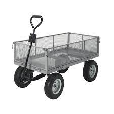 heavy duty large garden cart wagon trolley 600kgs