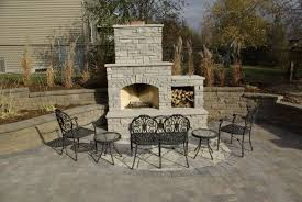 outdoor fireplace paver patio:  mn paver patio with fire place
