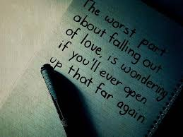 Falling Out Of Love Quotes Awesome Broken Heart Quotes The Worst Part About Falling Out Of Love Is