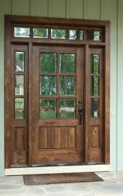 knotty alder 6 lite mission style entry door unit 36 x80 ex 1334