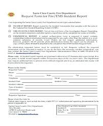 Fire Report Template Fire Incident Report Form Template