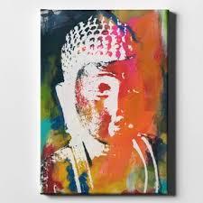 painted buddha v acrylic painting print on canvas on buddha wall art metal with buddha wall art metal wayfair