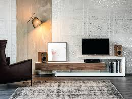 modern entertainment center low walnut cabinet contemporary wall unit