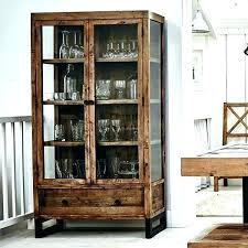 reclaimed wood wall cabinet wall display case with glass doors wooden glass cabinet reclaimed wood glass