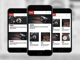 News Mobile Premium Mobile Site Template Enabled