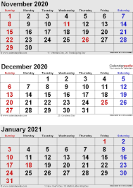 Blank Dec 2020 Calendar December 2020 Calendars For Word Excel Pdf