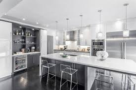 Modern White & Grey Kitchen Design Oakville modern-kitchen