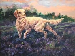 Setter In Heather by Peggy Watkins | Beverly McNeil Gallery