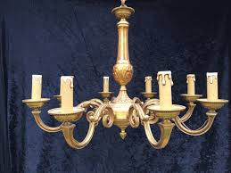 french brass 8 light pendant chandelier 1 of 8