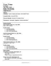 Printable Resume Template Resume Template For High School Students Printable Resume Template