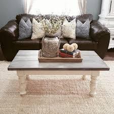 25 diverse diy farmhouse coffee table ideas for cozy homes Handmade Rustic Coffee Table Table Decor Living Room Modern Coffee Table Decor Handmade Home Decor