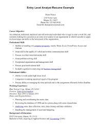 Entry Level Business Analyst Resume Berathen Com