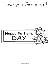 Gift Tag Coloring Page I Love You Grandpa Coloring Page Twisty Noodle