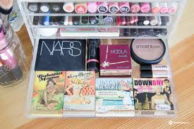 how to organize blush and bronzer