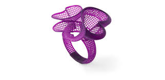 a filigree bangle master for direct investment casting 3d printed on the form 2