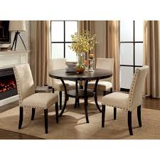 Furniture Of America Gabriel 5 Piece Rustic Round Dining Table Set