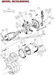 2004 2007 club car precedent gas or electric club car parts electric motor model 5bc59jbs6390