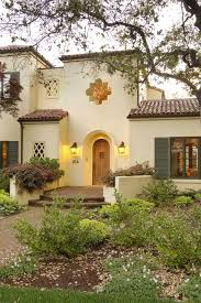 Spanish stucco house exterior mediterranean with stucco wall house numbers  window shutters