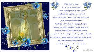 Rincón de la Oración: Estampas Oraciones de Nuestra Señora de Fátima