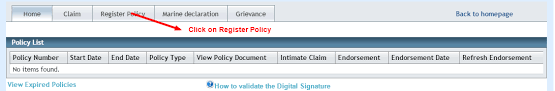 Oriental Insurance Policy Status By Online