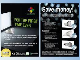 Promotional Led Lights Led Light Bulb Promotional Flyer 11 Flyer Designs For A