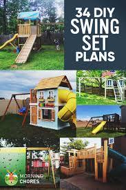 Swing Set Designs Diy 34 Free Diy Swing Set Plans For Your Kids Fun Backyard Play