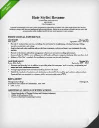 hair stylist resume hair stylist sample resume