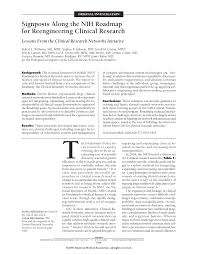 signposts along the nih roadmap for reengineering clinical first page pdf preview