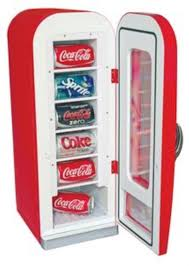 Countertop Soda Vending Machine Gorgeous Koolatron CVF48 Coca Cola Compact Refrigerator Retro Vending Machine
