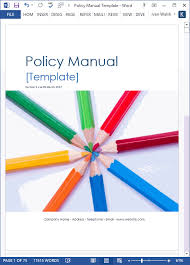Policy Manual Template Ms Word