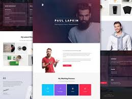 Personal Website Templates Adorable Personal Website PSD Template 28 Freebiesbug
