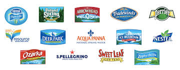 Just A Picture Of All Of The Domestic Bottled Water Brands