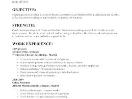 Medical Assistant Resume Template Free Amazing Sample Resume For Receptionist Best Executive Assistant Example