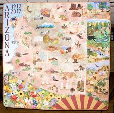 85 best 4th grade local geography images on pinterest Travel Map Of Arizona one side of the arizona centennial commemorative quilt, which will be on display at the travel map of arizona and utah
