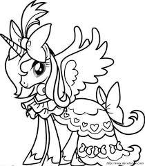 Colorare Unicorno Disegno Un Unicorno Ben Vestito