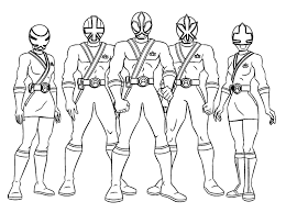Power Rangers Coloring Pages 04 Imágenes Power Rangers Coloring