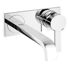 grohe allure  gpm singlehandle wall mount bathroom faucet in