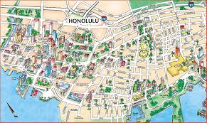 large honolulu maps for free download and print  highresolution