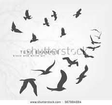 bird flying silhouette. Perfect Silhouette Wedge Of Birds Flying In The Sky Inside Bird Flying Silhouette I