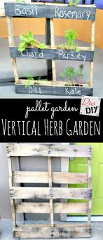 a quick and easy diy pallet garden idea for your outside herbs the perfect garden