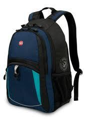 <b>Рюкзак</b> WENGER, цвет <b>синий</b>/<b>черный</b>/<b>бирюзовый</b> (<b>3191203408</b>)