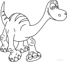 Small Picture The Good Dinosaur Disney Coloring Pages Wecoloringpage