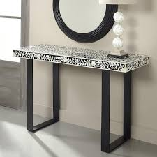 Black console table Antique Decorpad Coast To Coast Imports Black And White Console Table