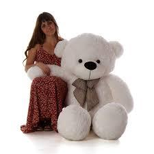 Amazon.com: Giant Teddy 5 Foot Life Size Bear Huge Stuffed Animal Toy Huggable Cute Cuddles (Snow White): Toys \u0026 Games