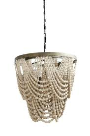 elegantly dd chandelier metal base with wood beads round x metal wood bead chandelier w 3 lights chain cord